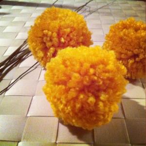 three flower heads